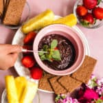 vegan chocolate fondue