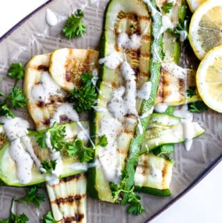 Herby Lemon Grilled Zucchini