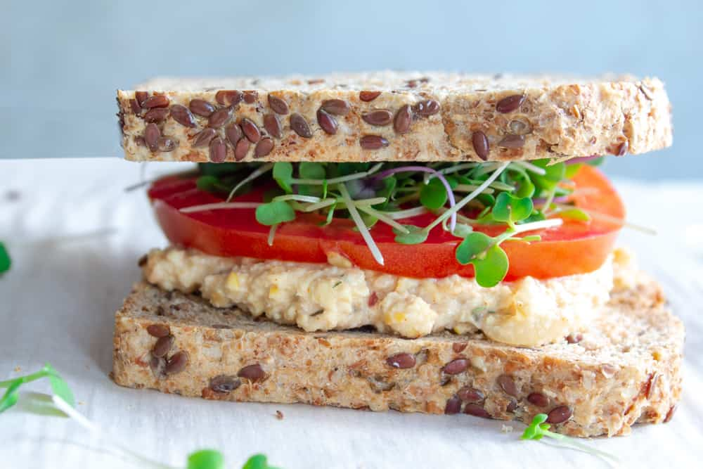 chickpea tuna sandwich, chickpea sandwich filling, chickpea sandwich spread,