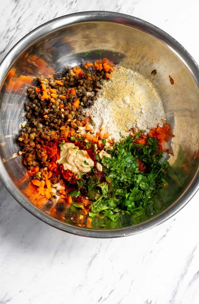 recipe for lentil burger