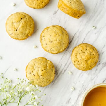 vegan cornbread muffins with maple syrup